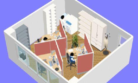 使用人数3人(コンセントレーション型):東京都内40坪以下の小規模賃貸事務所専門 アーデント