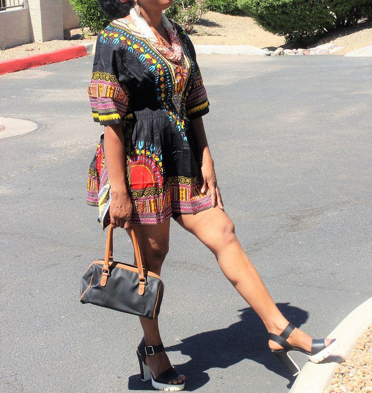 Classic Dashiki top/dress, Elastic Waist Dashiki, dashiki shirt, dashiki top, African wax, robe africaine, tissus Africain, tessuti africani by Africshop on Etsy