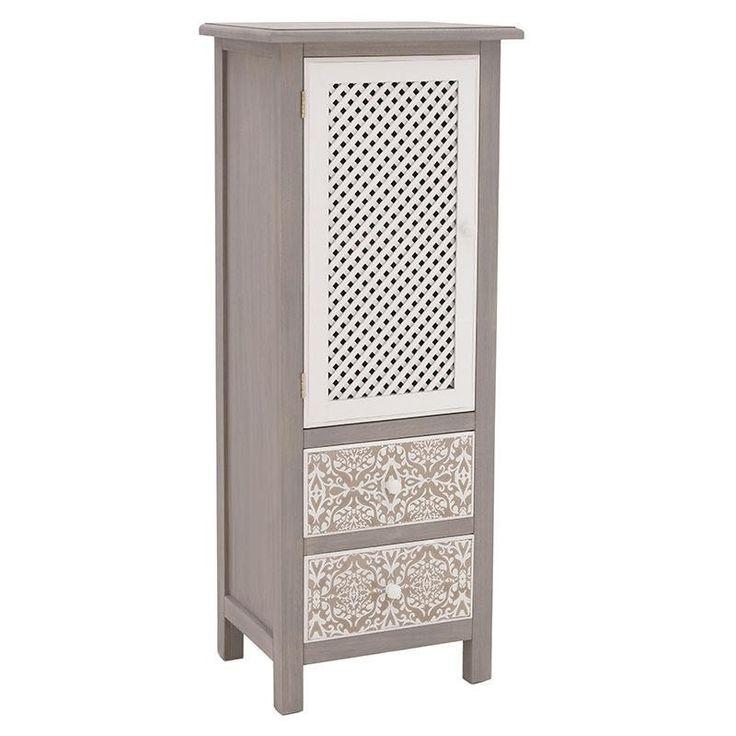 Wooden 1 Door Cabinet - inart