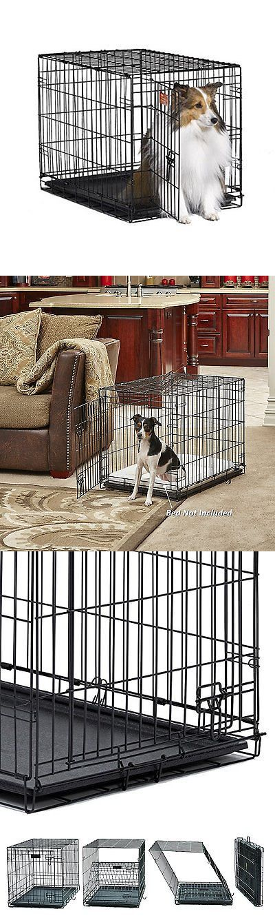 Cages and Crates 121851: New Midwest Icrate Pet Crates Dog Cage Single Door Medium Size Free Shipping BUY IT NOW ONLY: $35.1
