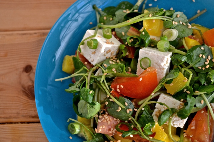 ... Tofu Salad with Honey Miso Dressing | Tofu Salad, Honey Dressing and