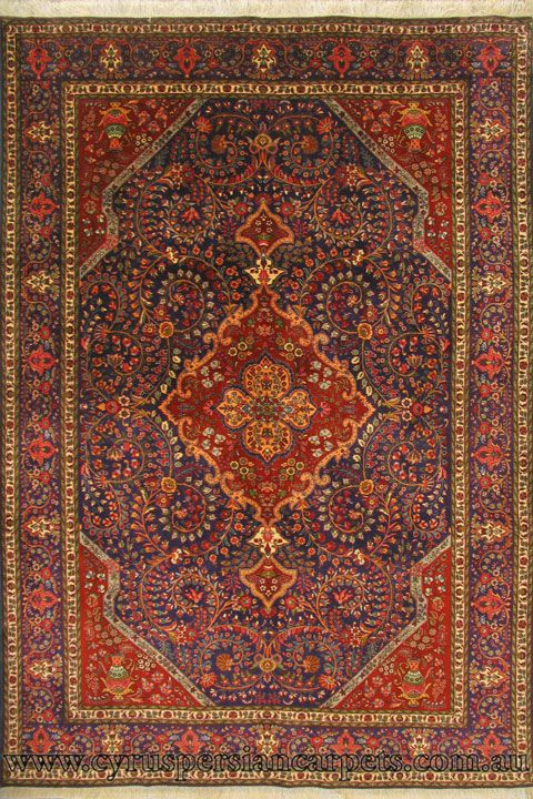 Tabriz Medallion Hand Knotted Wool Rug Cyrus Persian Rugs And Carpets Modern Made Australia S Largest Online