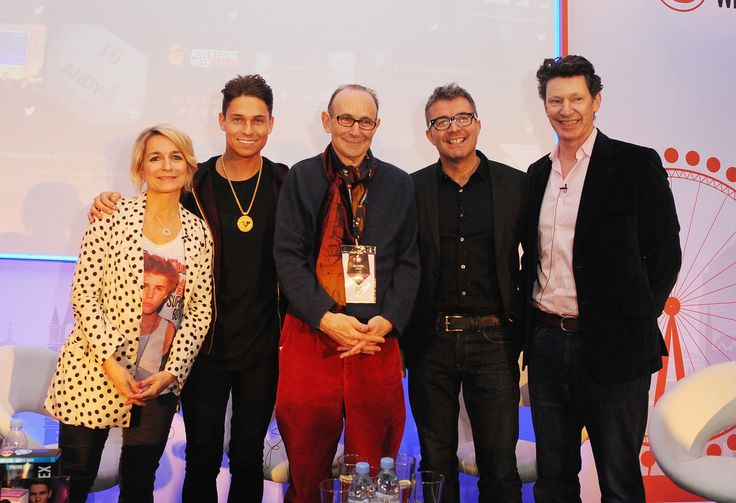 Advertising Week Europe: Lucie Cave, Heat, Editor-in-Chief, Joey Essex, Oliver James, Clinical psychologist, author and broadcaster, James Murphy, Adam & Eve DDB, CEO and Steph Calcroft, Founding partner of Mother at Celebrities Are Becoming Brands, and Brands Are Becoming Celebrities