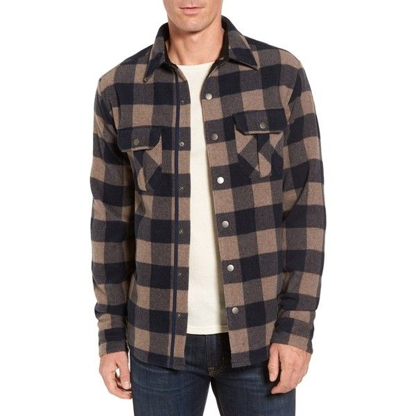 Men's Smartwool Anchor Line Flannel Shirt Jacket ($180) ❤ liked on Polyvore featuring men's fashion, men's clothing, men's outerwear, men's jackets, navy, mens leopard print jacket, men's buffalo plaid jacket, mens jackets and mens navy blue jacket