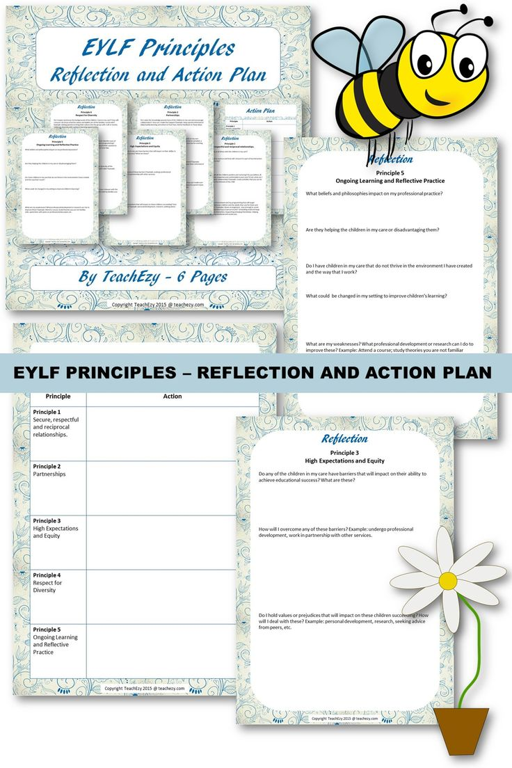 EYLF Principles Reflections and Actions Plan.