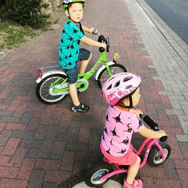 Two cute Bike-riders wearing me&i clothes!