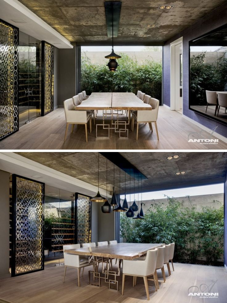 Dining room inspiration from a home in Cape Town, South Africa.