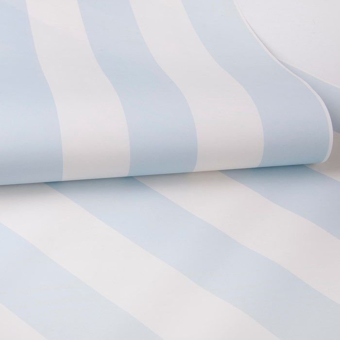 Pastel Blue Stripe Wallpaper by Graham and Brown