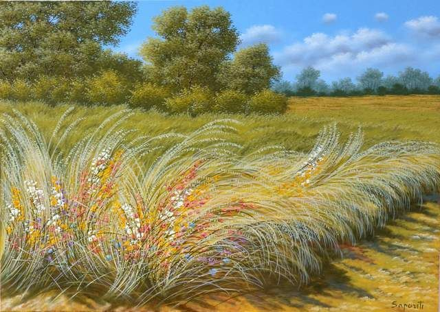 Attualmente nelle aste di #Catawiki: Marco Saporiti - Flowers in the wind