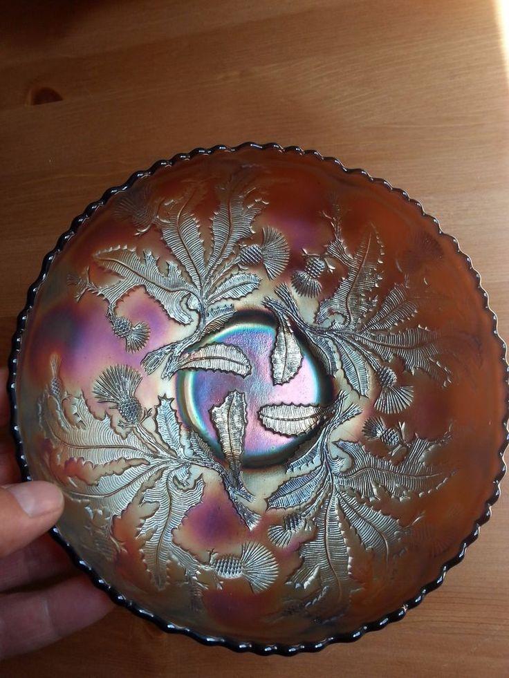 Carnival Glass FENTON Thistle Bowl  LAVENDER