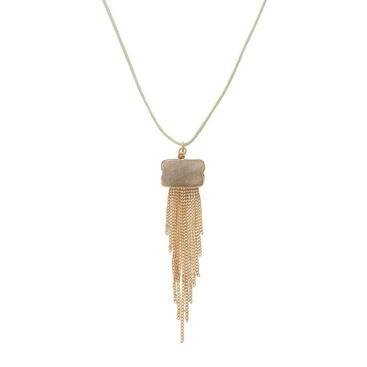 Buy the Oria Rectangular Bead & Chain Tassel Necklace at Oliver Bonas. Enjoy free worldwide standard delivery for orders over £50.