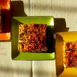 Quadrotti di zucchine, ricotta e pesto. #italianfood #foodideas #creativefood #ricette