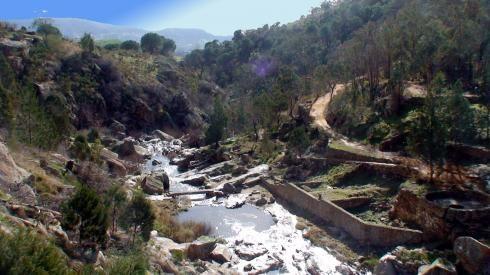 Adelong Falls Gold Mining Ruins at Adelong Creek