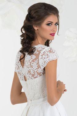 Svadobné šaty s čepčekovým rukávom na predaj
