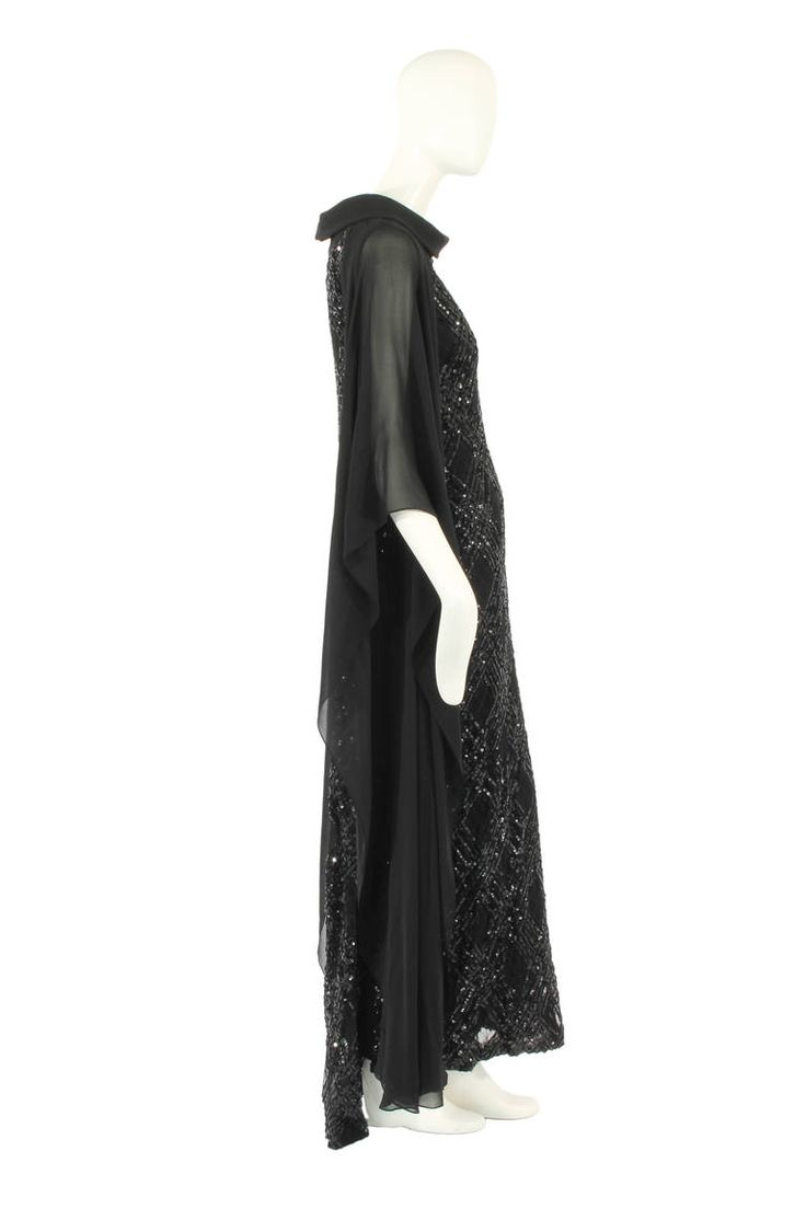 A Carven haute couture dress, circa 1967 | From a collection of rare vintage evening dresses at https://www.1stdibs.com/fashion/clothing/evening-dresses/