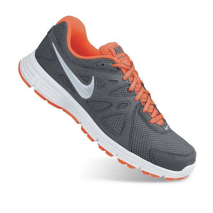 nike running grise et orange