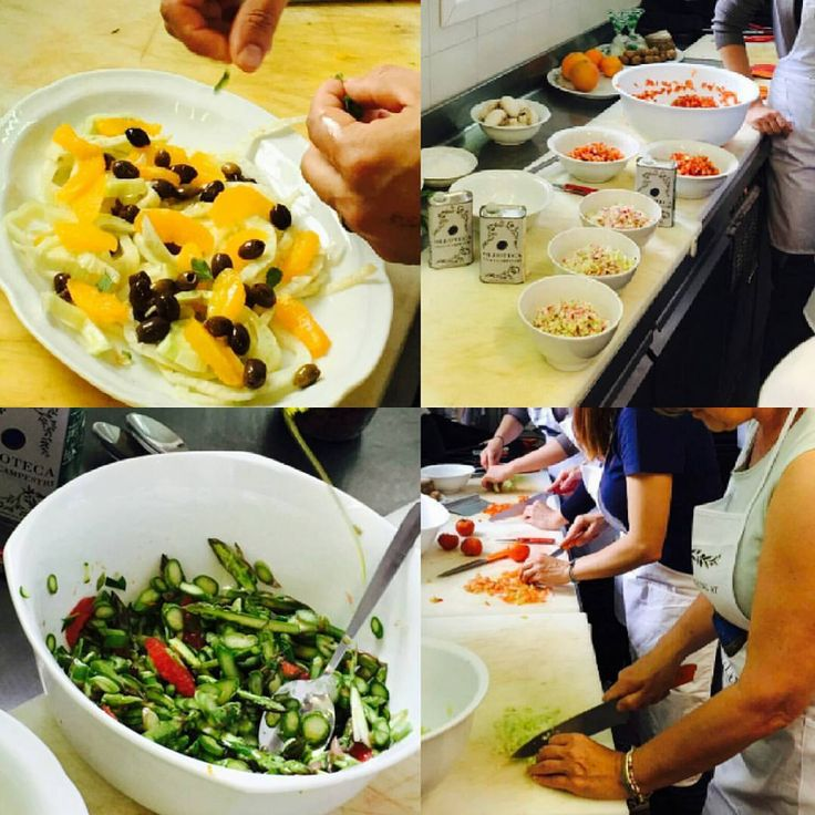 Our iCook course - a complete menu of fresh, raw ingredients and our olive oil