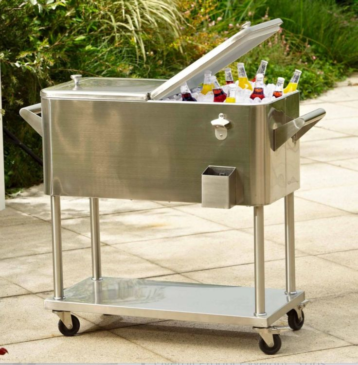 Ice Cooler Chest storage Beverages Drinks Outdoor Patio Party Chiller Picnic Cup #IceCoolerChest