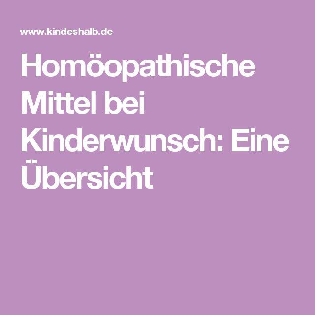 Homöopathische Mittel bei Kinderwunsch: Eine Übersicht