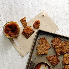 Flaxseed, Fig, and Walnut Cracker Recipe
