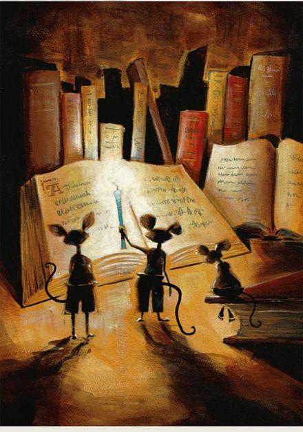 Ratos de biblioteca…