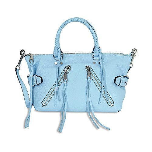 Rebecca Minkoff Leather Moto Satchel - Sky >>> Check this awesome product by going to the link at the image.