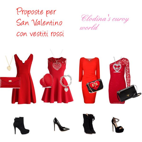 """""""Proposte per san Valentino con vestiti rossi"""""""