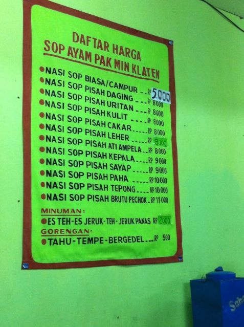 [KULINER] Sop Ayam Pak Min khas Klaten. Posisi di Jl. Mataram - Yogyakarta. Maknyus.. | http://yfrog.com/kf8pxuuj /via @DollySW