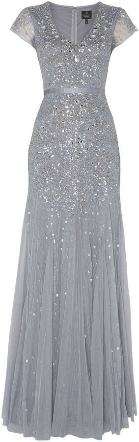 CHY FASHION FINDER.: Adrianna Papell Jewel sequin dress with flutter sl...