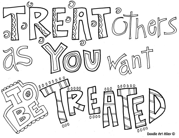 DOODLE ART ALLEY - the golden rule, Treat other as you want to be treated PLUS many more quotes ALL FREE