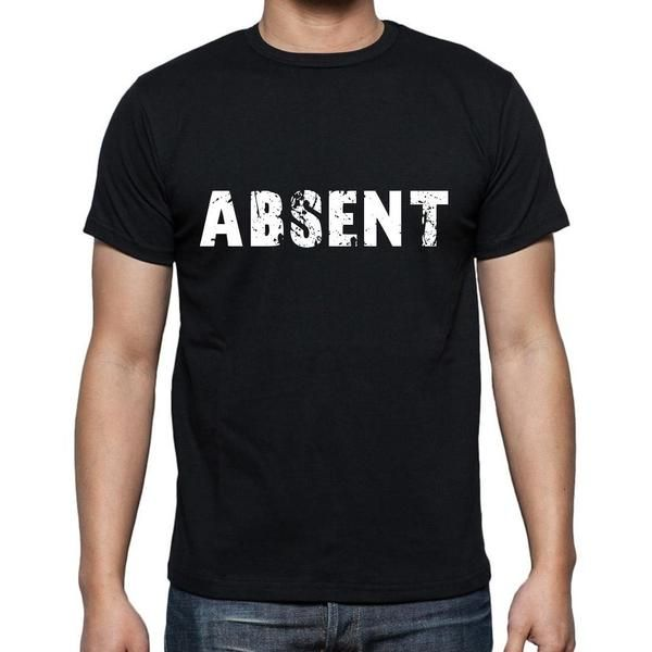 #tshirt #absent #men #black #word T-shirt time! Pick your favorites --> https://www.teeshirtee.com/collections/collection-6-letters/products/absent-mens-short-sleeve-rounded-neck-t-shirt