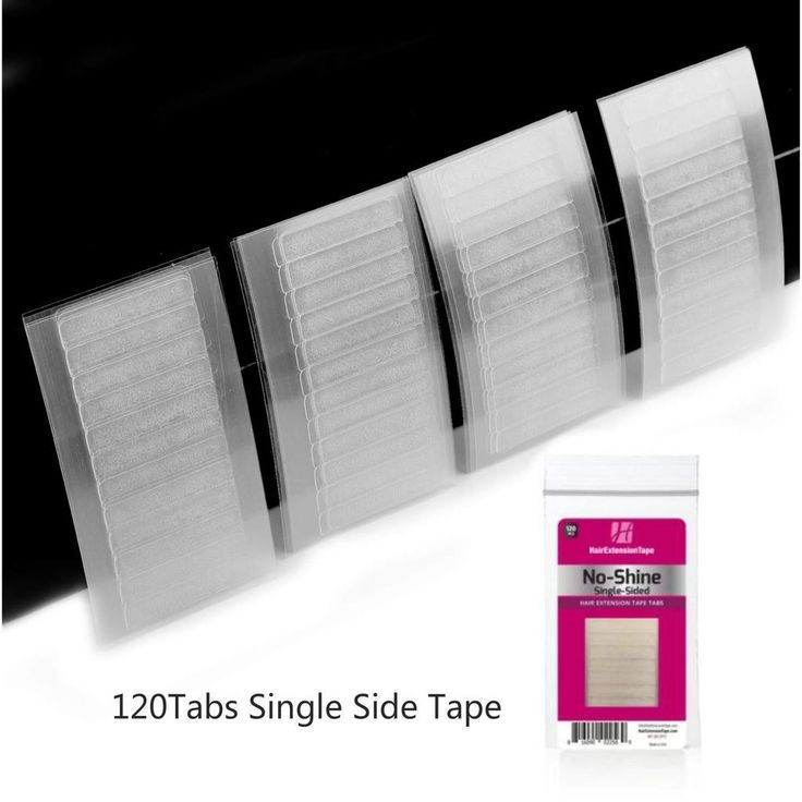 No Shine Single Sided Tape Tabs for Tape Hair Exte…