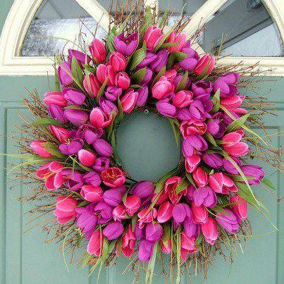 Beautiful Tulip Wreath.......