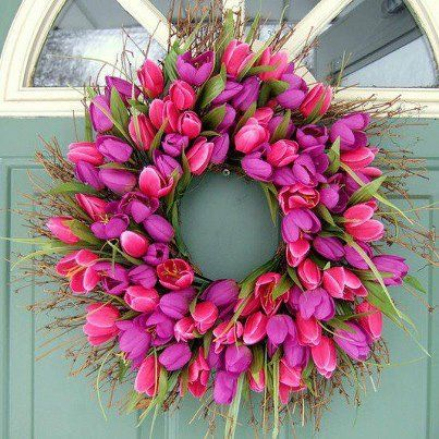 Beautiful Tulip Wreath.......