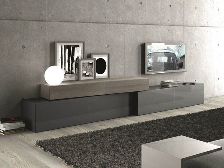 Download the catalogue and request prices of sectional storage wall #296, design Pierangelo Sciuto, Inclinart Rovere Vissuto collection to manufacturer Presotto Industrie Mobili