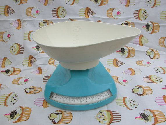 Salter kitchen weighing scales from the 1970's by Kitschnalia, £14.99