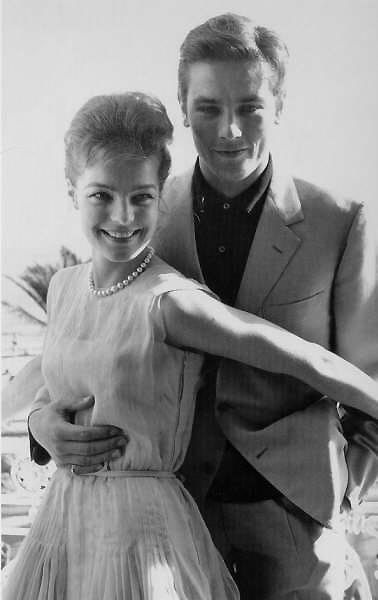 with Romy Schneider, 1962