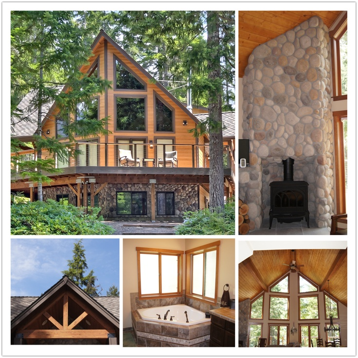 Log Home Exterior Ideas: Interior And Exterior Home Collage Photos