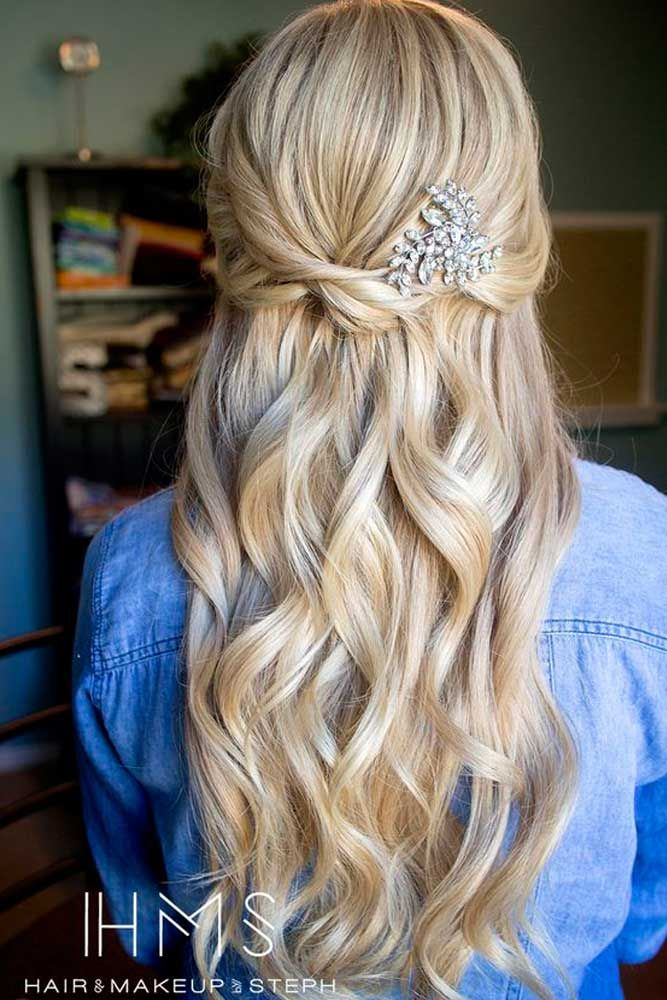 30 Chic Half Up Half Down Bridesmaid Hairstyles Prom