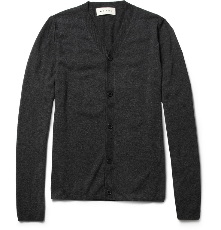 MARNI  ELBOW-PATCH CASHMERE SWEATER