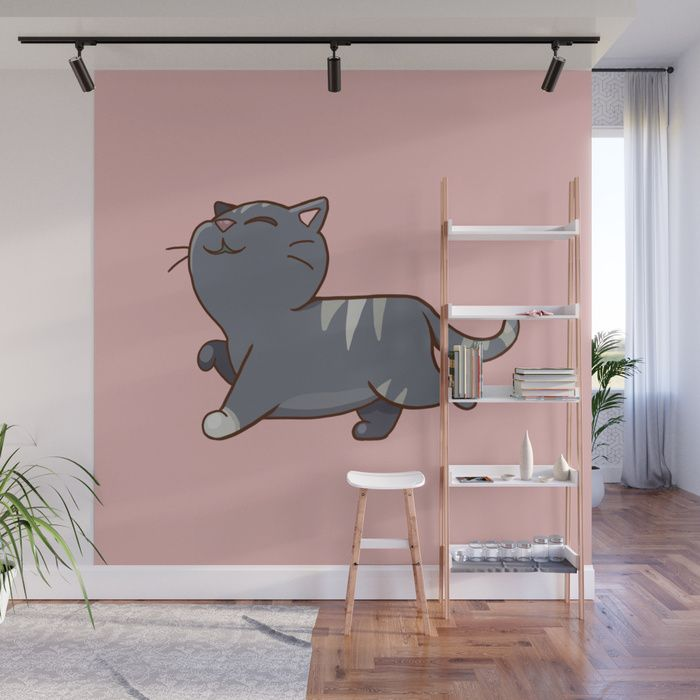 Buy Proud cat pattern Pink Wall Mural by strijkdesign. Worldwide shipping available at Society6.com. Just one of millions of high quality products available.