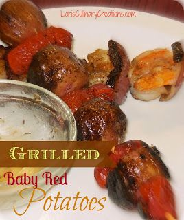 Grilled Baby Red Potatoes - Spuds on a Stick!  l  www.lorisculinarycreations.com  l  #Grilled