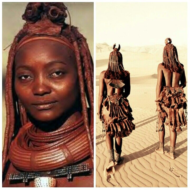 It's TaSanni's Africa Tuesday and we are heading to Namibia. The Himba are a tribe of nomadic pastoralists. Both men and women wear loin cloth or goat skinned mini skirts.   Married women wear heavy necklaces made from copper or iron wire. They also have beaded anklets called Omohanga, which comes in handy as a protection against venomous animal bites. The women also use Omangetti seeds as adornments since they enjoy the noise the seeds  #Namibia #culture #himba #tribe #fashion