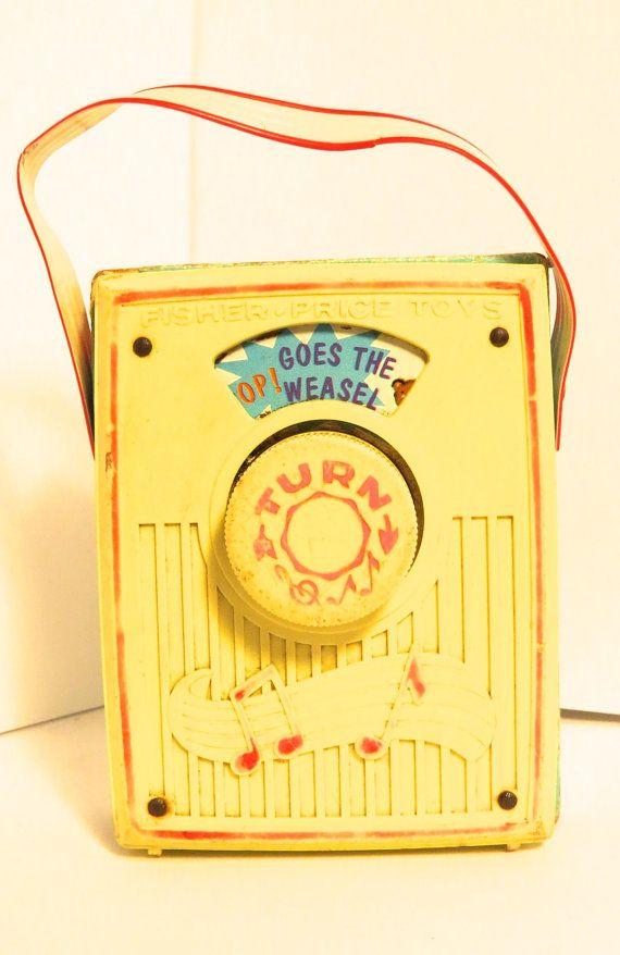 Fisher price pocket radio pop goes the weasel by VintageFunBox