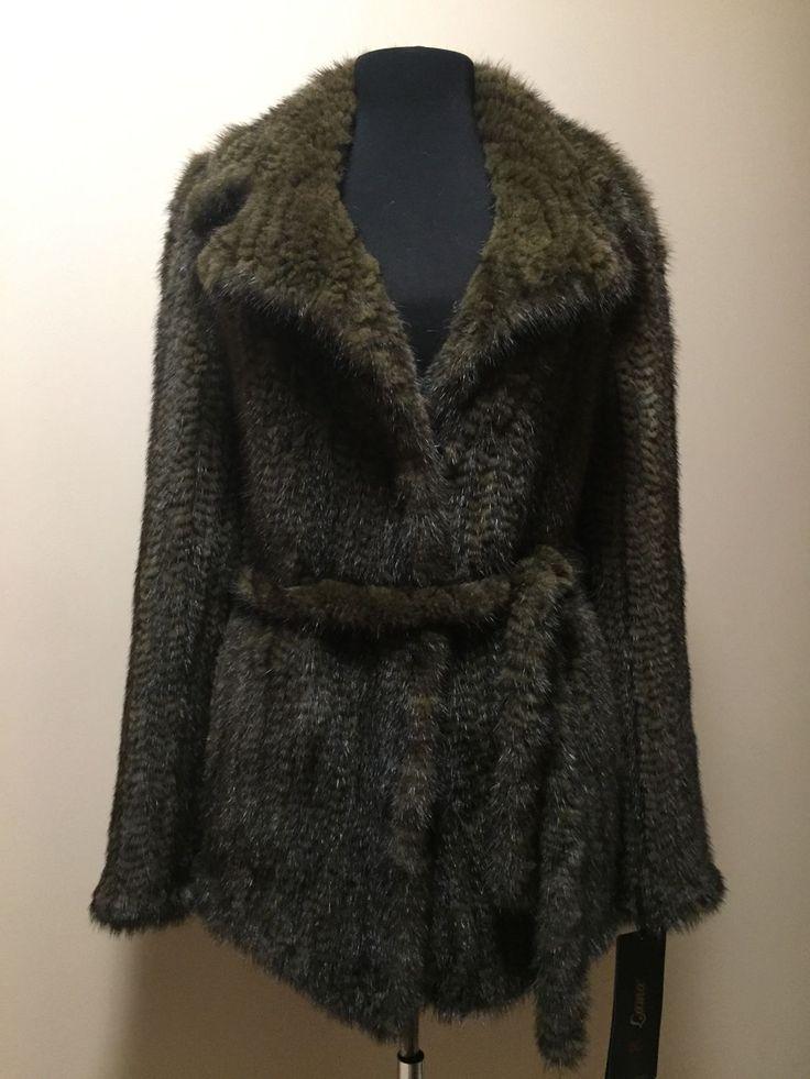 """Купить Куртка из вязаной норки """"Евро-мода"""" хаки - хаки, однотонный, оливковый, новинка, эксклюзив"""