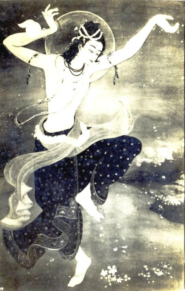 Shri Chaitanyer Abhishar Kalipada Ghoshal Painting