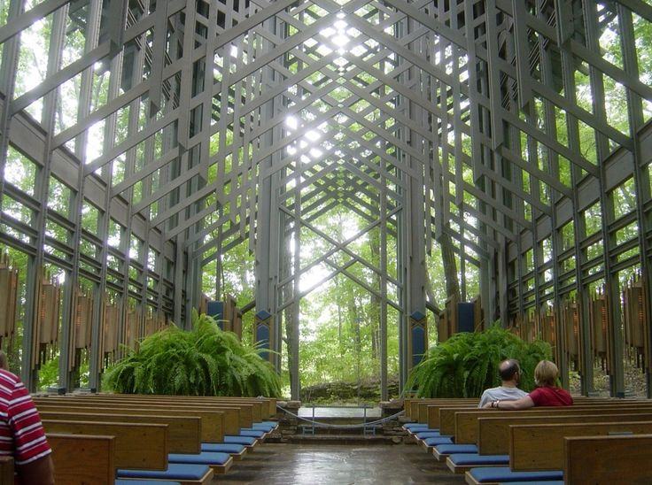 Thorncrown Chapel in Eureka Springs included in list of six modern churches that are serene refuges from the world by Artsy.net. #VisitArkansas