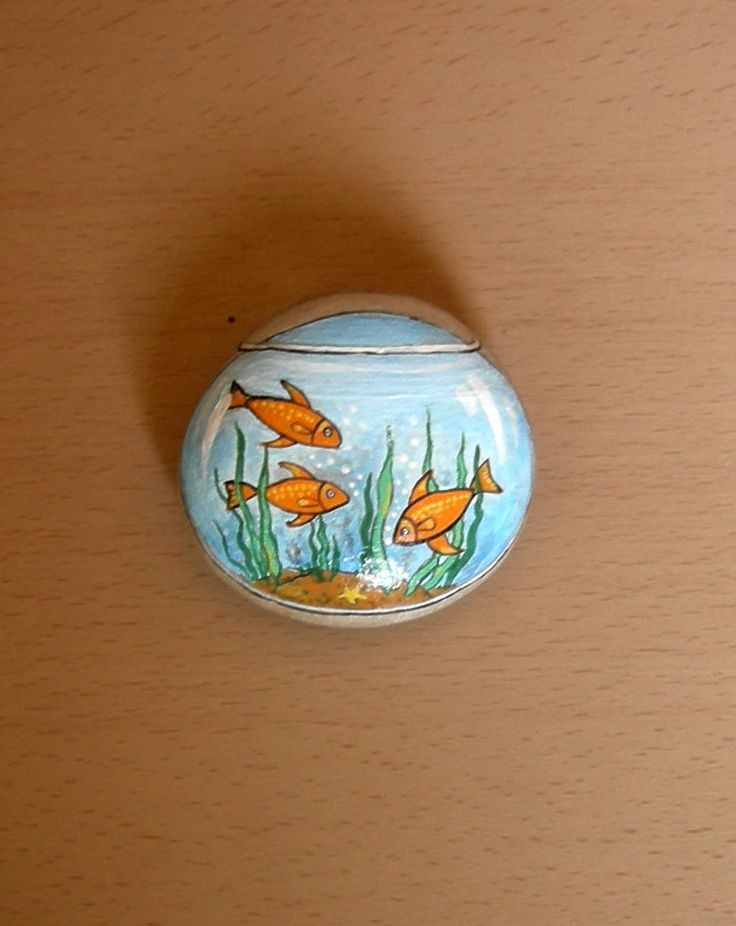 Fishbowl rock art rocks pinterest design goldfish for Crafts using stones