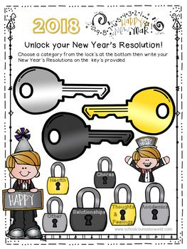 Use this New Year's Resolution activity to help your student's focus on goal-setting and becoming a better person in the new year. Comes in color and black/white. We appreciate your positive feedback if you choose to download! :-) ----- NEVER create another