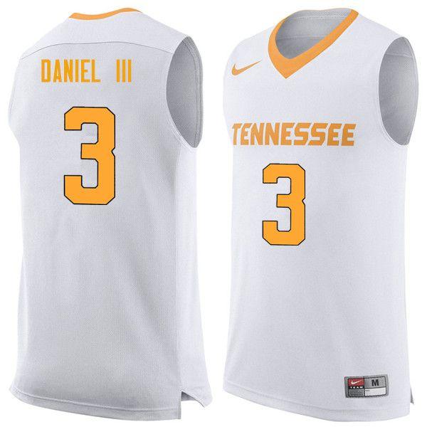 fee0ca5bd7c Men  3 James Daniel III Tennessee Volunteers College Basketball Jerseys  Sale-White